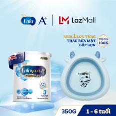 Bộ 1 lon Sữa bột Enfagrow A2 Neuropro 3 cho trẻ từ 1 – 6 tuổi – 350g -Tặng 1 Thau rửa mặt gấp gọn
