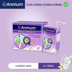 Lốc 4 hộp sữa nước Anmum 125ml – hương vani