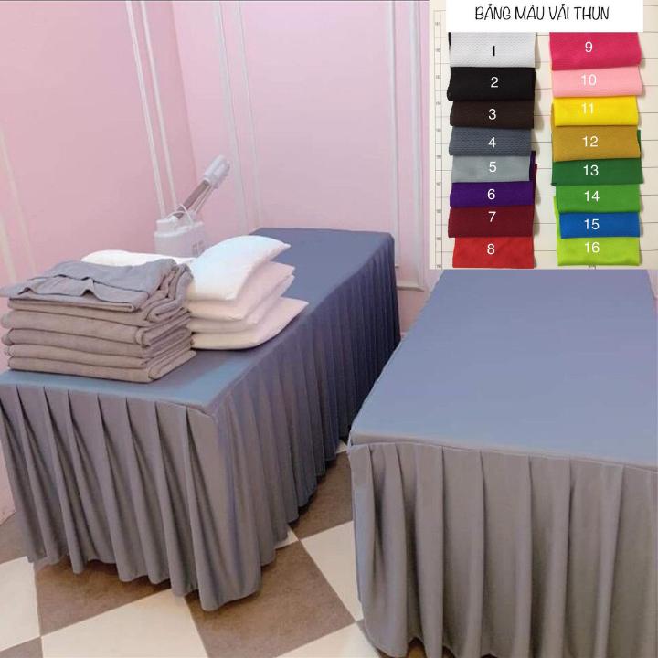 [Lấy mã giảm thêm 30%]Ga giường vải thun cho spa nối mi phun xăm thẩm mỹ gội đầu
