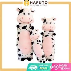 Gấu bông bò sữa Hafuto size 70cm dạng gối ôm, thích hợp làm quà tặng người yêu, món đồ chơi trẻ em không thể thiếu, freeship toàn quốc