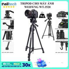 [Nhập ELJAN11 giảm 10%, tối đa 200k, đơn từ 99k]Tripod chân máy ảnh Weifeng WT-3520 khung nhôm cao cấp cao 1.4m chịu tải 3kg hỗ trợ chụp hình quay video livestream có quai cầm tay móc treo và túi đeo