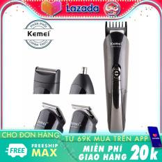 Tông đơ cắt tóc 4in1 Kemei KM-500 đa năng chuyên dụng cắt tóc, cao râu, tỉa lông mũi – Hãng phân phối chính thức