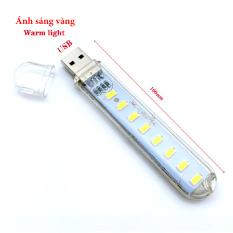 Đèn USB 8 LED Ánh Sáng Vàng