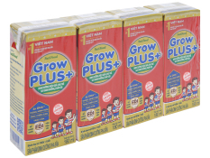 Sữa bột pha sẵn Nuti grow plus đỏ 180ml 1 lốc