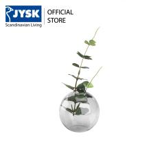 Lọ trang trí JYSK Visti thủy tinh màu xám DK9x9cm