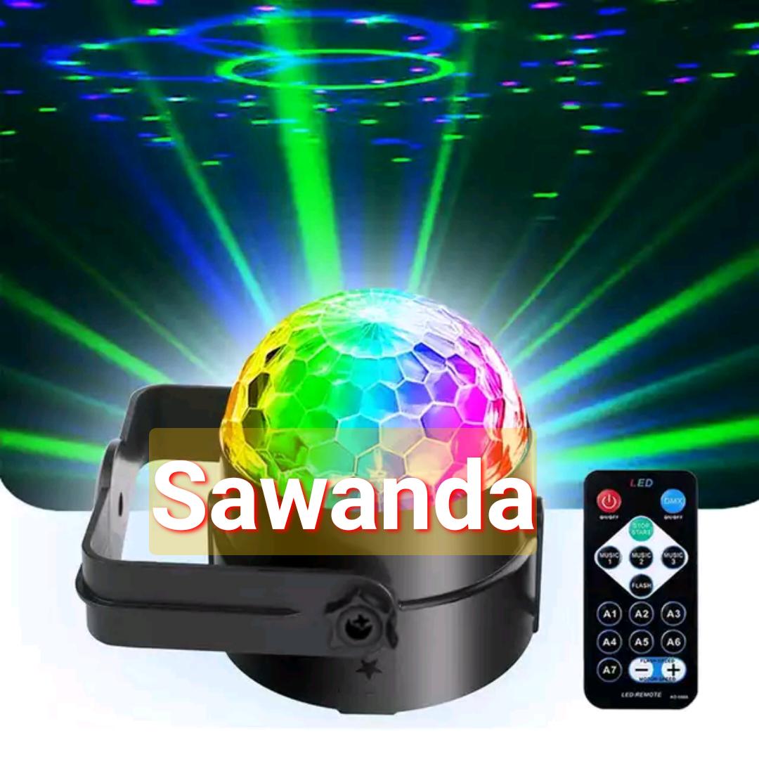 Đèn xoay đổi màu theo tiếng nhạc có điều khiển chip led to
