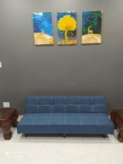 Sofa bed . Sofa giường . Sofa phòng khách (2 chức năng: sofa + giường, kích thước 170 x86 cm). Màu xanh tím than nhạt
