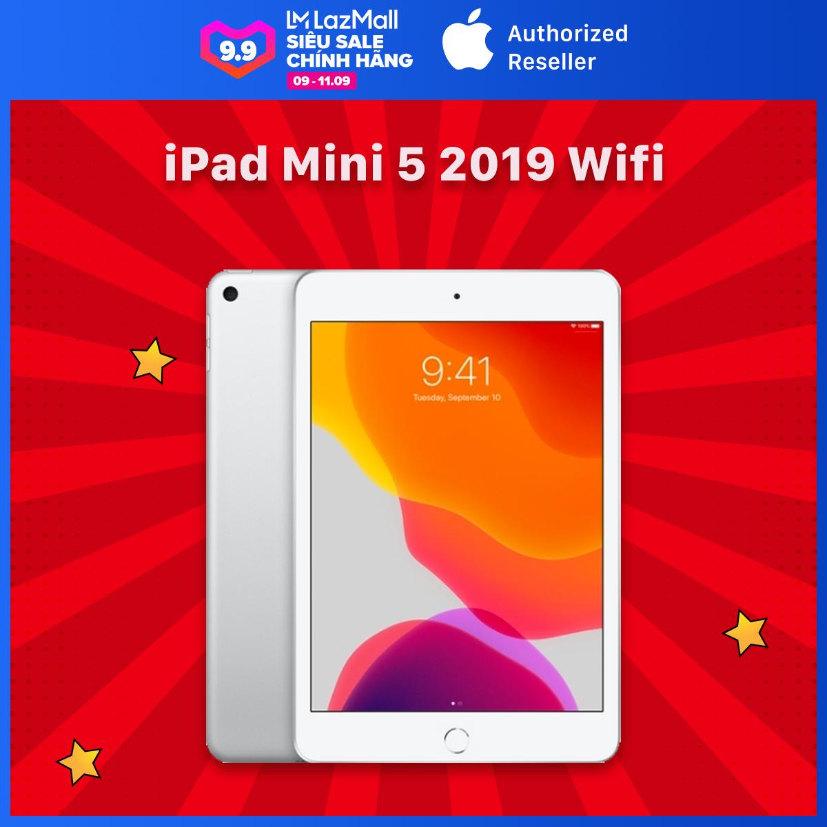 Máy Tính Bảng iPad Mini 5 (2019) 7.9 inch – Wifi – Hàng Chính Hãng Việt Nam – Mới 100% (Chưa Kích Hoạt) – Trả Góp 0% – Màn hình Retina True Tone Tương Thích Apple Pencil Thế Hệ 1- Chip A12 Bionic Mạnh Mẽ – Hệ điều hành iPadOS