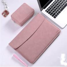 Bao da, túi da chống sốc cho Macbook, Laptop 13.3 inch kèm ví đựng phụ kiện (Macbook Air 13.3 inch đời 2018/ Macbook Pro 13.3 inch đời 2016 đến 2018)
