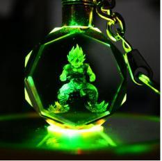 Hot Hot Bộ móc khóa pha lê có đèn LED in hình các nhân vật 7 viên ngọc rồng tuyệt đẹp Songoku ( đc chọn nhân vật )