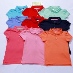 [Xuất Xịn] Áo Polo Bé Gái Xuất Dư 100% Cotton Thoáng Mát Vải Mềm Mịn (Size 09 – 16Kg)[Hình Thật]