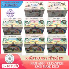 Khẩu trang trẻ em [Hộp 50 cái]❤️ 4 lớp kháng khuẩn, 💯 chính hãng Cleanpro