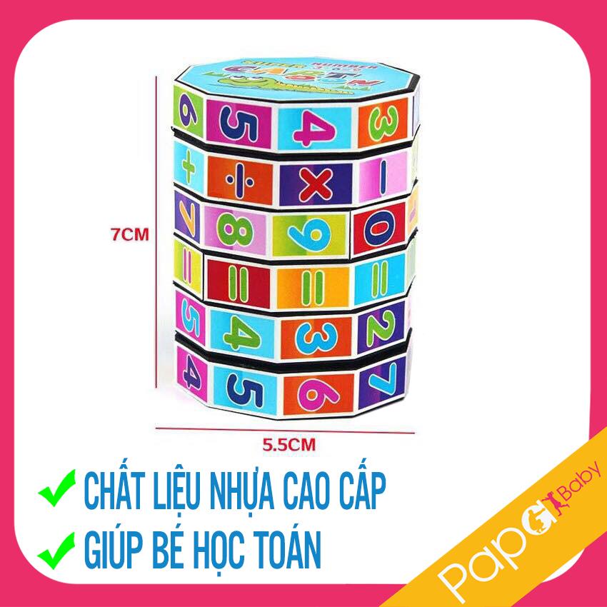 Rubik Toán Học Cho Bé - Phát Triển Trí Thông Minh, Làm Quen Với Các Con Số - Khối rubik...