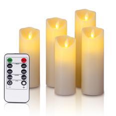 Bộ 5 cây nến điện tử trang trí đèn Led tiết kiệm pin