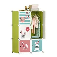 Tủ nhựa ghép,tủ quần áo,tủ nhựa đựng quần áo đa năng tâm house đủ 6 ngăn