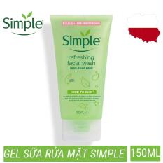 Sửa rửa mặt dạng gel simple refreshing facial wash nhẹ nhàng lấy sạch bụi bẩn trên da, cho da cảm giác mịn màng (150ml)