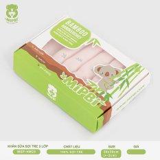 Khăn sữa cao cấp Mipbi 3 lớp 100% sợi tre mềm mại, kháng khuẩn HM28 (Hộp 6 chiếc)