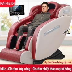 Ghế massage máy mát xa KAIMEIDI toàn tự động đa chức năng ghế da cao cấp, xoa bóp nhiệt thảo mộc, cạo gió gan bàn chân Redepshop