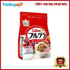 [ DATE T5/2021 ] Ngũ cốc Calbee màu đỏ 800g Nhật Bản