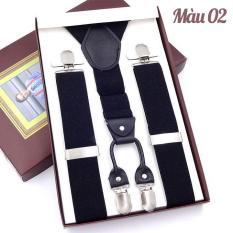 Đai đeo quần chữ Y Nam, loại cao cấp 4 kẹp, bản 3,5cm dài 120cm, có hộp làm quà tặng lịch sự OPP04