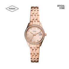 Đồng hồ nữ Fossil Scarlette Micro Three-Hand Date dây thép không gỉ ES5038 – màu rose gold
