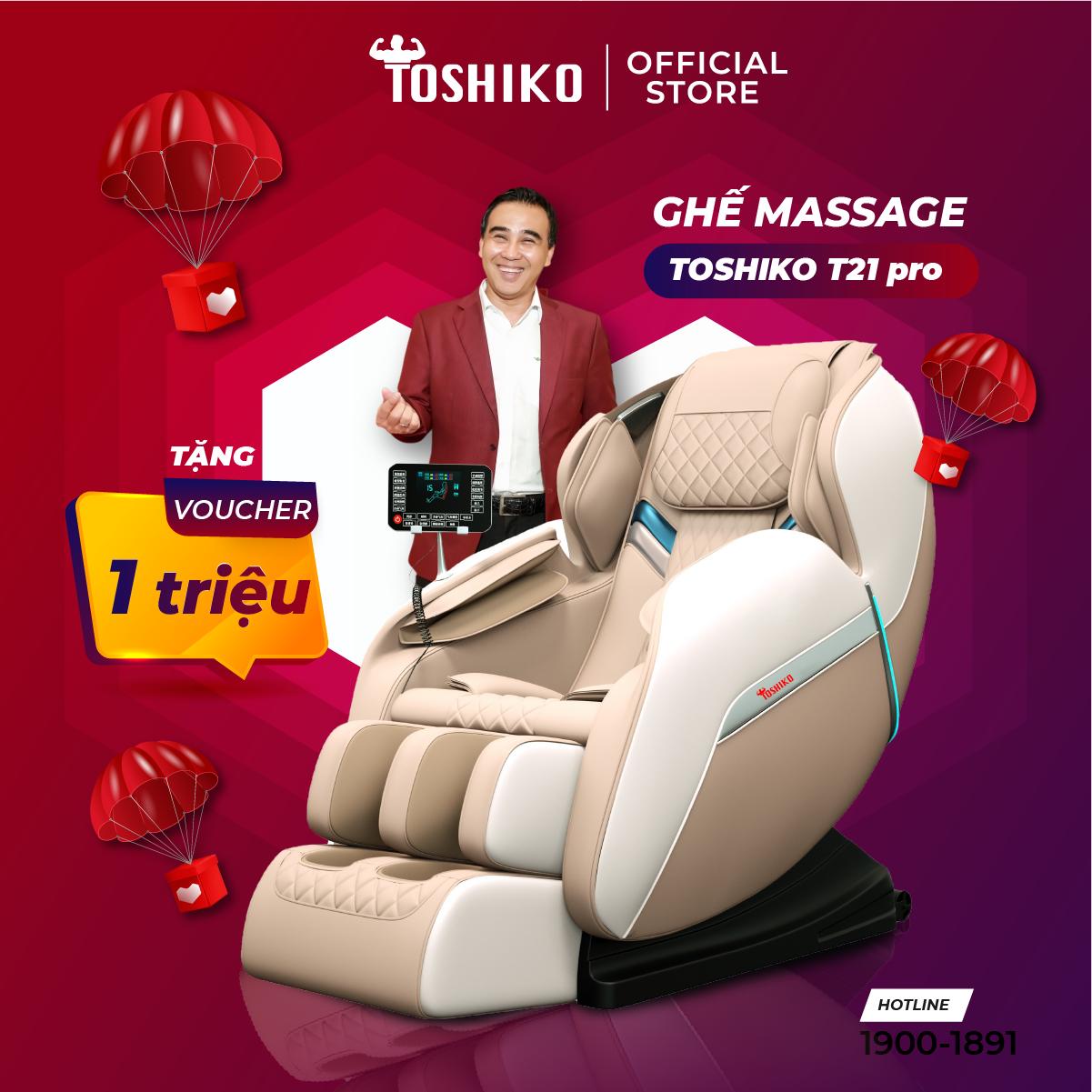 Ghế massage trị liệu toàn thân Toshiko T21 Pro hàng chính hãng, bảo hành 6 năm, miễn phí vận chuyển