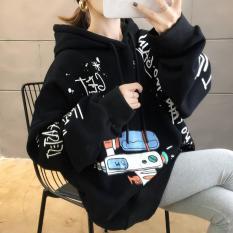 ( Sale 50% ) Áo Hoodie Nam Nữ, Chất Nỉ Bông in Chữ Nhật Kèm Họa Tiết Hoạt Hình Siêu Dễ Thương .XTTT
