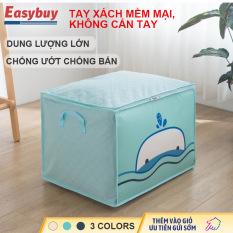 Túi vải đựng nhà dùng không dệt túi đựng quần áo dày 3 lớp dung tích lớn chống ẩm và chống bám bẩn thoáng khí tốt.