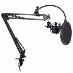 Kẹp mic kèm màng lọc thu âm livestream hát karaoke- bộ 2 món bền đẹp giá đỡ mic và màng lọc âm chuẩn