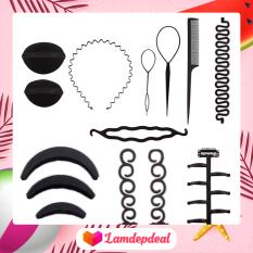♥ Lamdepdeal – Combo 9 dụng cụ tạo kiểu tóc đa năng – Dụng cụ làm tóc, tết tóc, thắt bím tóc, bộ phụ kiện đầy đủ nhất, có video hướng dẫn – Dụng cụ làm tóc
