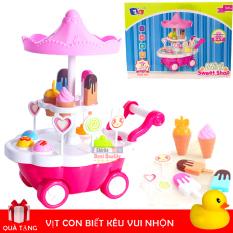 Đồ Chơi Trẻ Em/Đồ Chơi Xe Kem, Xe đẩy bán kem có đèn và nhạc vui nhộn cho bé gái