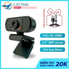 [TẶNG Cáp từ tính 3in1] Webcam Cát Thái JD101 FULL HD 1080P cổng kết nối USB dùng được học online, gọi video call, tích hợp sẵn Micro, độ phân giải cao 1920×1080 30FPS, dùng được cho laptop và máy tính bàn