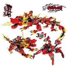 Bộ lắp ráp lego biến đổi 3 in 1 Ninja rồng HSANHE 2256