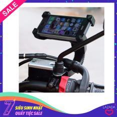 Giá đỡ điện thoại kẹp 4 góc gắn kính chiếu hậu xe máy – Loại chất lượng