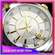 Đồng hồ Seiko Premier Perpetual Calendar dây vàng trắng + PIN DỮ TRỮ ( GIẢM KỊCH SÀN )