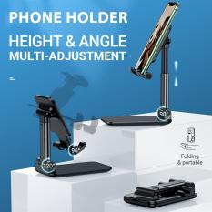 Giá đỡ iPhone/ iPad 4.7-10 inch, có thể điều chỉnh được, được làm bằng kim loại + nhựa ABS chất lượng cao, chịu được sức nặng đến 1.5kg