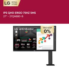 [TẶNG TAI NGHE LG NECKBAND SL5 1.990K – VOUCHER 1.000K] Màn hình máy tính LG IPS QHD ERGO (2560×1440) 75Hz 5ms 27 inches l 27QN880-B l HÀNG CHÍNH HÃNG