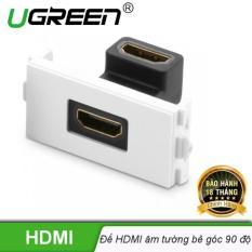 Đế HDMI âm tường bẻ góc 90 độ UGREEN MM113 20318 – Hãng phân phối chính thức