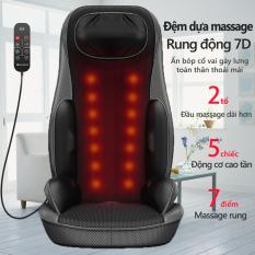 Ghế massage đa năng, đệm massage, massage cổ, massage lưng, điều chỉnh cường độ, chườm nóng