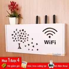 Kệ để cục wifi Cây Lá Trái Tim 5mm bằng Pima treo tường không khoan tặng kèm móc treo cường lực | shop nội thất trong hẻm