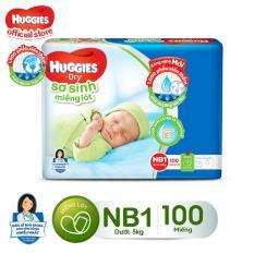 Miếng Lót Sơ Sinh Huggies NewBorn1 100 miếng dành cho bé dưới 5kg
