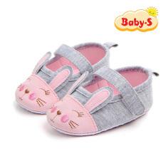 Giày tập đi bằng vải cho bé gái 0-18 tháng chất vải mềm mại nhẹ nhàng thân thiện cho bé yêu họa tiết chú thỏ xinh xắn ngộ nghĩnh Baby-S – STD17