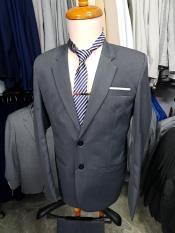 Bộ vest nam bác sui kiểu 2 nút trung niên màu xám tặng kèm cà vạt kẹp