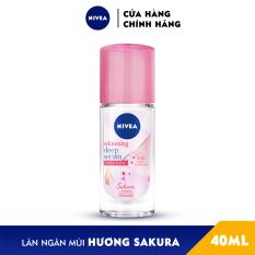 Lăn Ngăn Mùi Nivea Serum Trắng Mịn Hương Hoa Sakura (40ml) 85306