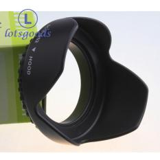 {lotsgoods}Flower Petal Camera Lens Hood for Nikon Canon Sony 52mm (Black)