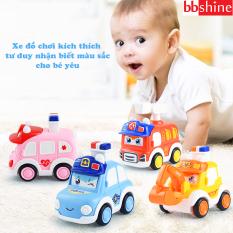 Xe đồ chơi cho bé, xe ô tô đồ chơi chạy cót cho bé trai và bé gái bằng nhựa nguyên sinh ABS bấm nút thay đổi nhiều cảm xúc thú vị BBShine – DC058