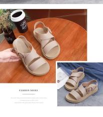 Giày Sandal Nữ Nhựa Dẻo Đi Mưa Hapu (Đen, Hồng, Kem, Nâu) – GL008