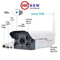 Camera YooSee ngoài trời Siêu nét 2.0mpx 1080P – 2 anten w26S