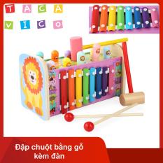 [FreeShip+Quà Tặng]Đồ chơi đập chuột kết hợp đàn cho bé TACAVICO P07. Đồ chơi cho bé. Đồ chơi đập chuột có nhạc
