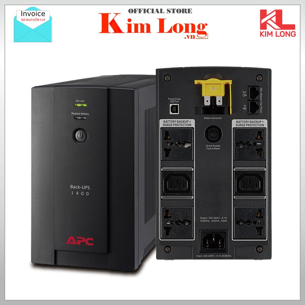 Bộ lưu điện UPS APC BX1400U-MS Back UPS 1400VA 230V 700W AVR Universal and IEC Sockets – Chính hãng Digiworld